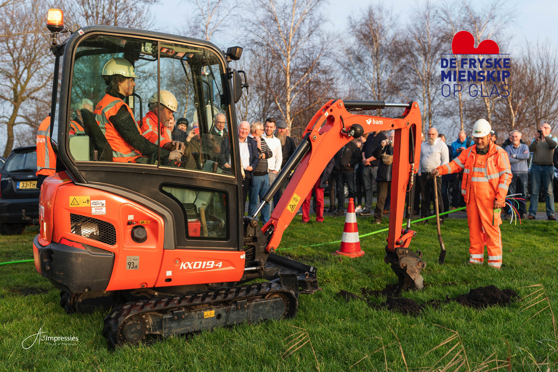 Start aanleg glasvezel in De Fryske Marren